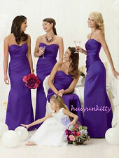 Colour Sample for Cadbury Purple Satin Evening Wedding Bridesmaid Dress