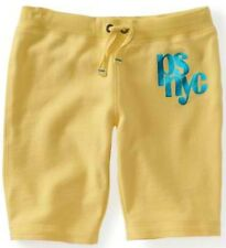 Kids Yellow PS Aeropostale Girls NYC Shine Drawstring Knit Bermuda Shorts Sz 4