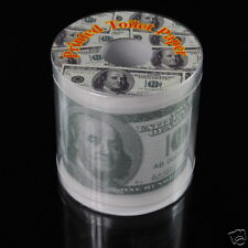 Money Toilet Paper Euro Dollar Bill Banknote Printed Tissue Roll Novelty Present