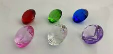 40 MM Cut Glass Diamond Paperweight choice 8 colors
