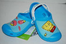NWT CROCS SPONGEBOB & PATRICK CUSTOM CLOGS 8/9 10/11 12/13 BLUE WHITE kid shoes
