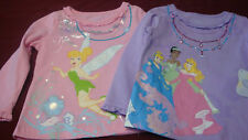 DISNEY PRINCESS AND TINKERBELL TOP  SIZES VARY   NWT