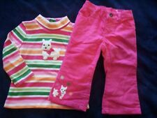NWT Girl's Gymboree Cheery All The Way dog shirt & pants 12-18 months 2 2T 3 3T