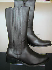 Ladies Gluv Leather Calf Boots - Chocolate - Angelica - Great For Autumn