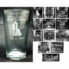 Case of 24 - Personalized Pub Glasses Custom Wedding Party or Anniversary Gifts