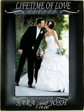 Personalized Metal Picture Frames 4x6 5x7 8x10 Engagement Photos Wedding Couples