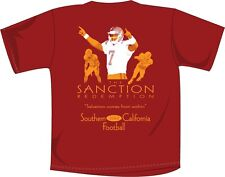 "USC t-shirt ""The Sanction Redemption"" NCAA Football Apparel Cardinal & Gold"