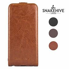SNAKEHIVE® Genuine Real Leather Flip Case Cover for Samsung Galaxy S3