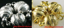 10 Sets Silver/Gold Plated Lantern shaped Magnetic Clasps U pick