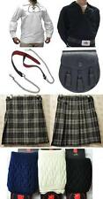Great Gift: Mens Package 5 Yard Kilt Shirt Hose Sporran Belt Hamilton Grey