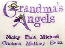 CUSTOM EMBROIDERED PERSONALIZED SHIRT-STARTING PRICE $32.99,GRANDMA,GRANDPA,MOM