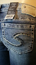 SILVER JEANS AIKO BOOTCUT IN INDIGO ALL SIZES R387