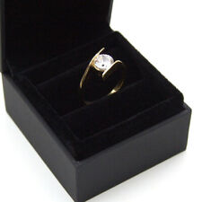 Diamond-Unique Crossover Shank 1ct Engagement Ring 9ct Gold