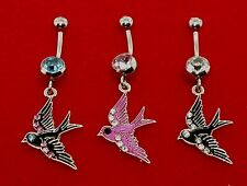 Sparrows Navel Belly/ Rings Comes in Cool Colors. Surgical Steel Belly(14 gauge)