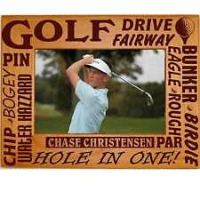 Personalized Wood Picture Frames 4x6 5x7 8x10 Boys Girls Golf Engraved Photo