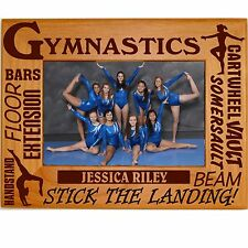 Personalized Wood Gymnastics Picture Frames 4x6 5x7 8x10 Team Custom Photos