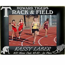 Boys Girls Track Personalized Engraved Metal Picture Frames 4x6 5x7 8x10 Custom