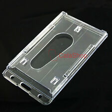 1 3 5 10 X ID Card Holder Badge Bussiness Horizontal Hard Plastic Clear ID003