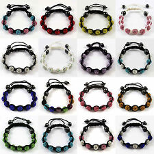 Premium SHAMBALLA Clay 85 Czech Crystals 9 Disco Ball Beads Bling BRACELET