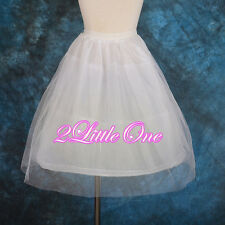Kid 1-Hoop 2 Tiers Flower Girl Dress Crinoline Petticoat Slip Underskirt  #002