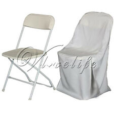 New Polyester Folding Chair Cover For Wedding Party Banquet Event Decorations