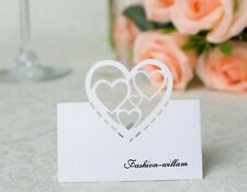 50- Laster Cut Love Heart Place Name Card,Table Favors, Wedding Bridal Shower