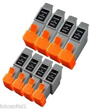 8 x Black Inkjet Cartridges Compatible With Printer Canon BCI-24