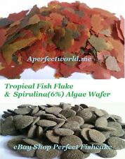 Best Selling Tropical Fish Food Flake & 6% Spirulina Algae Wafer~Great Saving!