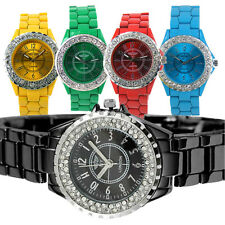 WOMENS LADIES CRYSTAL JEWEL SET METAL STRAP TOY STYLE WATCH NEW GIRLS WATCHES