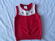 NWT Girl's Gymboree Cherry Cute red sweater vest ~ 5 6 7 8 10 12