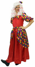 PANTOMIME DAME /WIDOW TWANKY FANCY DRESS COSTUME RED SIZE L-XXXXL