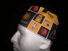 Hats4Ewe Scrub Hat Surgical Unisex Tie Back NBA Basketball Indiana Pacers