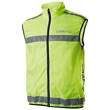 New CRAFT Unisex Adults Active Training Safety Vest Gilet in Neon Yellow XS-XXL