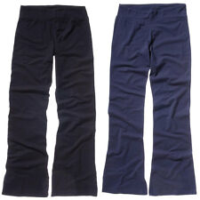 New BELLA CANVAS Womens Ladies Cotton Spandex Fitness Trousers Black Navy S - XL