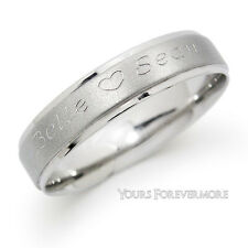 Personalized Promise Ring Name Ring Sterling Silver - Any 2 Names & Heart Free