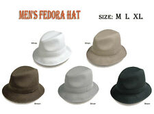 New Men's Fedora Trilby Hat size M L XL 5 Colors sty- LH2