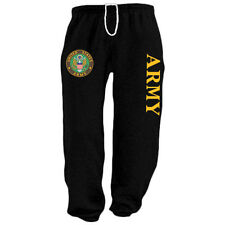 US United States Army black sweats tracksuit jogging pants sweatpants