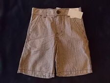 NWT Boy's Gymboree Plaid for Spring brown & white striped adjustable shorts 3 5