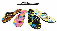Brand New SILICONE RUBBER JELLY TOE POST FLIP FLOP Palm Tree Sandal