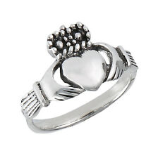 Sterling Silver Claddaugh Claddagh Ring Size 2-9