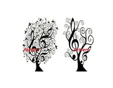 Music Trees. Cross Stitch Pattern. Paper version or PDF Files. Free shipping!