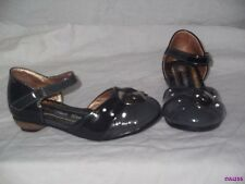 GIRLS GREY BLACK OR BLACK 3 TONE PARTY DRESS SHOES SIZE 7 & 8 NEW