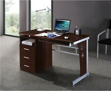 HOME OFFICE MULTI FUNCTIONAL COMPUTER DESK - CHOCOLATE / MAHOGANY FINISH