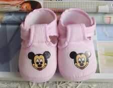pink baby Girl boy shoe Mickey Cotton mouse shoes Soft bottom fit 0-14 month