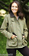 New Ladies Derby Tweed Quilted Heavy Weight Country Jacket, Coat