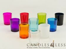 72 Colored Glass Votive Holders (Choice of 10 Colors)