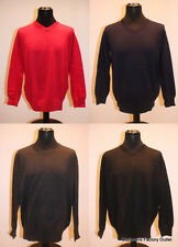 Edinburgh Mens V Neck Jumper 100% Merino Wool Sweater