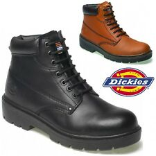 MENS DICKIES LEATHER  SAFETY BOOTS STEEL TOE CAP ANKLE WORK SHOES SIZE 6 -12