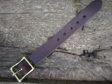 "UTILITY STRAP REAL LEATHER 25mm (1"") wide  SOLID BRASS BUCKLE VARIOUS LENGTHS"