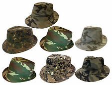 FEDORA TRILBY GANGSTER DIGITAL CAMOUFLAGE BUCKET Cotton HAT MEN CAP